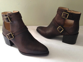NEW! Nine West EVALEE Dark Brown Distressed Booties Ankle Boots 8.5 M $138 - $88.00