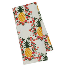 Pineapple Plumeria Kitchen Towel New Tropical Flowers Dish Tea Cotton 18... - $13.85