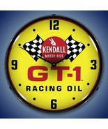 New Kendall Racing Motor Oils checkered flags LIGHTED advertising clock ... - $159.95