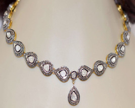 Latest Victorian Inspir. 7.94Ct. Rose Cut Diamond Sterling Silver Necklace - $2,461.75