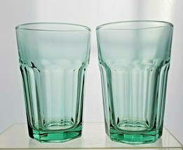 Lot of 2 Libbey Gibraltar Spanish Green 16 Oz Tumbler Cooler Glasses  - $24.70