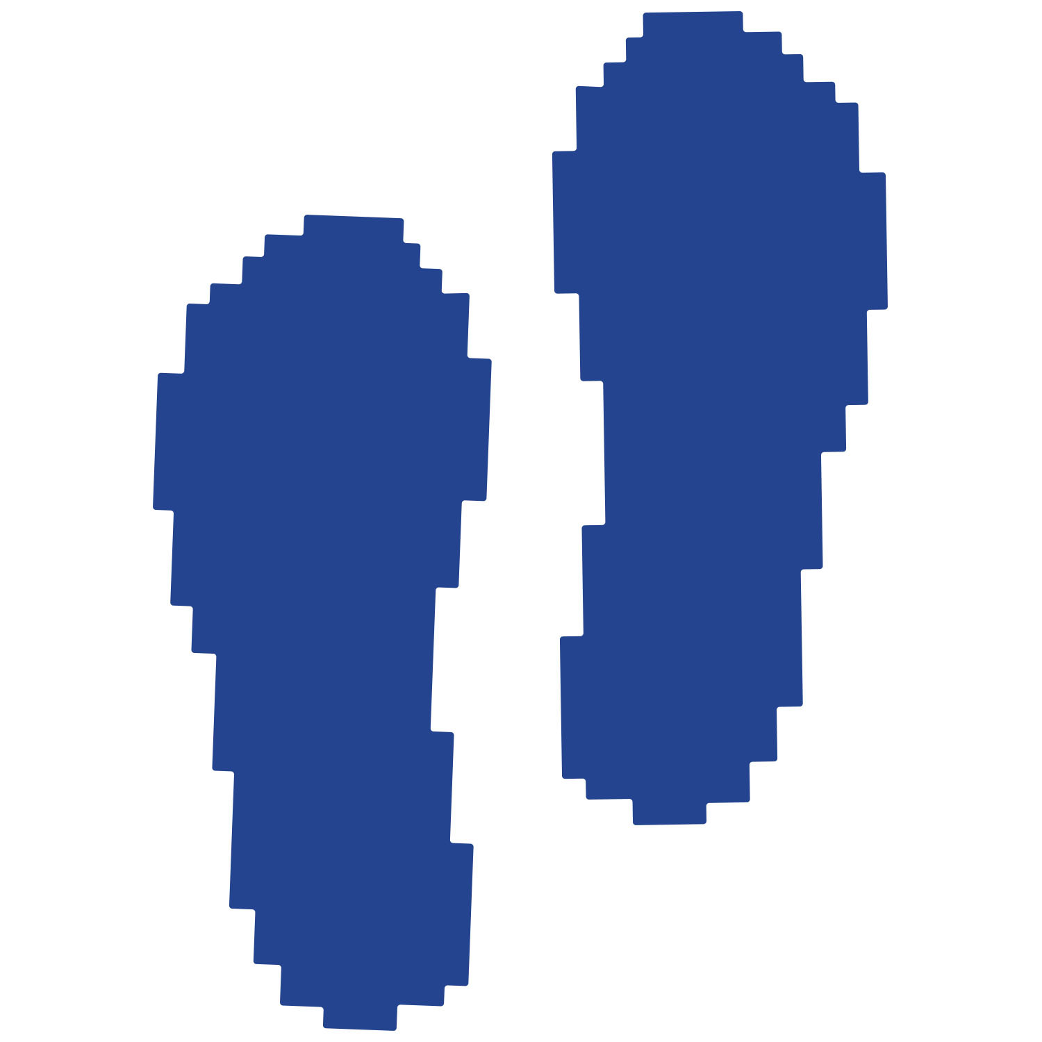 Primary image for LiteMark Blue Pixelized Footprint Decal Stickers - Pack of 12