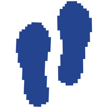 LiteMark Blue Pixelized Footprint Decal Stickers - Pack of 12 - $19.95