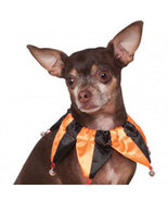 Halloween Jester Dog Collar Scrunchie Size Small-Medium - $4.00
