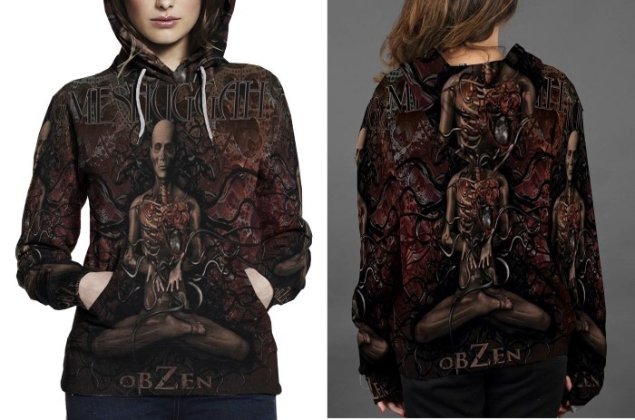 Meshuggah obzen hoodie fullprint for women