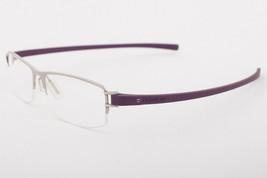 Tag Heuer 7202 007 Track Matte Purple Silver Eyeglasses 7202-007 56mm - $234.22