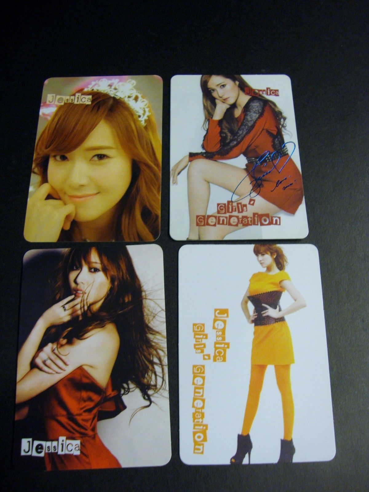 Jessica Girls Generation SNSD 4 pocket photo cards K-POP printed autograph