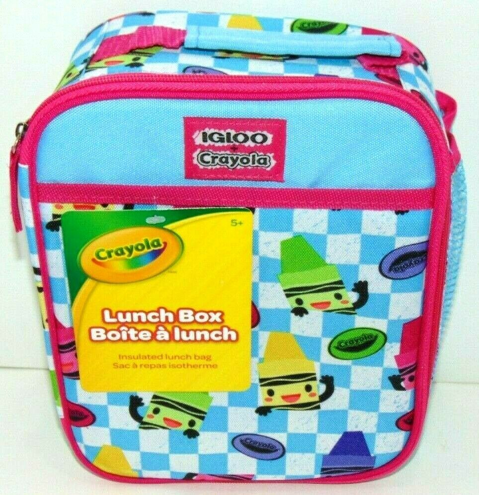 Primary image for Crayola Igloo Insulated Lunch Box / Bag Zipper + Mesh Pocket Brand New NWT!