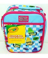 Crayola Igloo Insulated Lunch Box / Bag Zipper + Mesh Pocket Brand New NWT! - $7.07