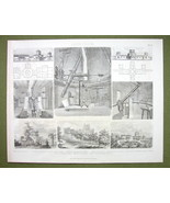 ASTRONOMY Telescopes Observatories Russia Greenwich - 1870s Print Engraving - $18.36