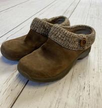 Dansko Eartha Women's Brown Suede Slip On Clogs Comfort Shoes Size 39 9.5 - $29.99