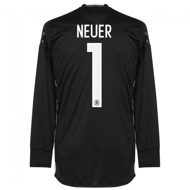 cb67231d0 ADIDAS MANUEL NEUER GERMANY EURO 2016 GOALKEEPER HOME JERSEY Black White.