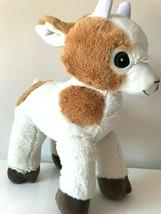 Jumbo Xlarge 16'' Standing Goat Plush. Soft Toy. Fiesta. Tan , White. New - $19.59