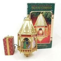 Vintage Enesco Cathedral Nativity Treasury Of Christmas Ornaments Winter Wonders - $27.88