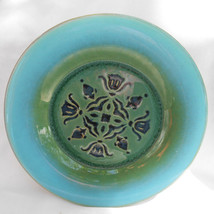 Romany Spartan Tile Decorative dinner plate floral mid century pottery - $25.24