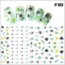 """HS Store - 1 pcs """"F-183 Gold"""" 3D Sweet Beauty Flower Sticker Nail Art De... - $2.62"""