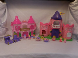 Fisher Price Little People Li Kingdom Pink Palace Castle + Figures + 2nd... - $28.02
