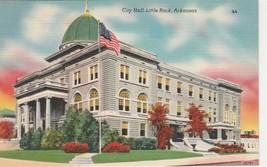 City Hall Little Rock Arkansas AR Vintage Postcard Linen Colourpicture - $3.34