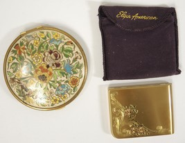 1940s Volupte Enameled  And Elgin American Gold Tones Compacts - $9.98