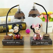 Mickey Minnie Mouse Resin Action Figures Toys Mickey Minnie Night Light Lamp - $22.00