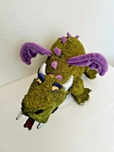 2003 Manhattan Toy Bartholomew Green Purple Dragon Plush Stuffed Animal - $16.60