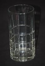 Tartan Clear by Anchor Hocking Flat Ice Tea Glass Vertical & Horizontal ... - $16.82