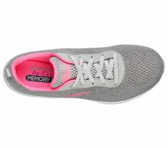 Skechers Shoes Women Gray Pink Memory Foam Sport Air Cushion Mesh Comfort 12644 image 5