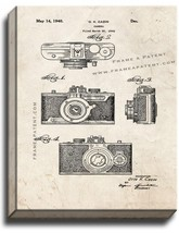 Camera Patent Print Old Look on Canvas - $39.95+