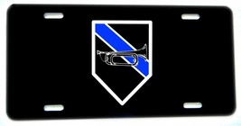 Thin Blue Line Tools of the Trade Bugle Aluminum License plate - $13.81