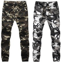 2018 new spring autumn and winter men in camouflage pants casual pants m... - $46.92