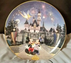 Sleeping Beauty Castle Mickey Disney's 40th anniversary plate Bradford Exchange - $14.85