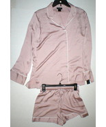 NWT New Designer Natori M Pajamas PJ's Shorts Long Sleeves Blush Rose Wo... - $190.00