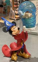 Walt Disney World Sorcerer Mickey Mouse Four Parks Icons Figurine Snowglobe NEW - $46.90