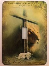 Religious Metal Switch plate - $9.50