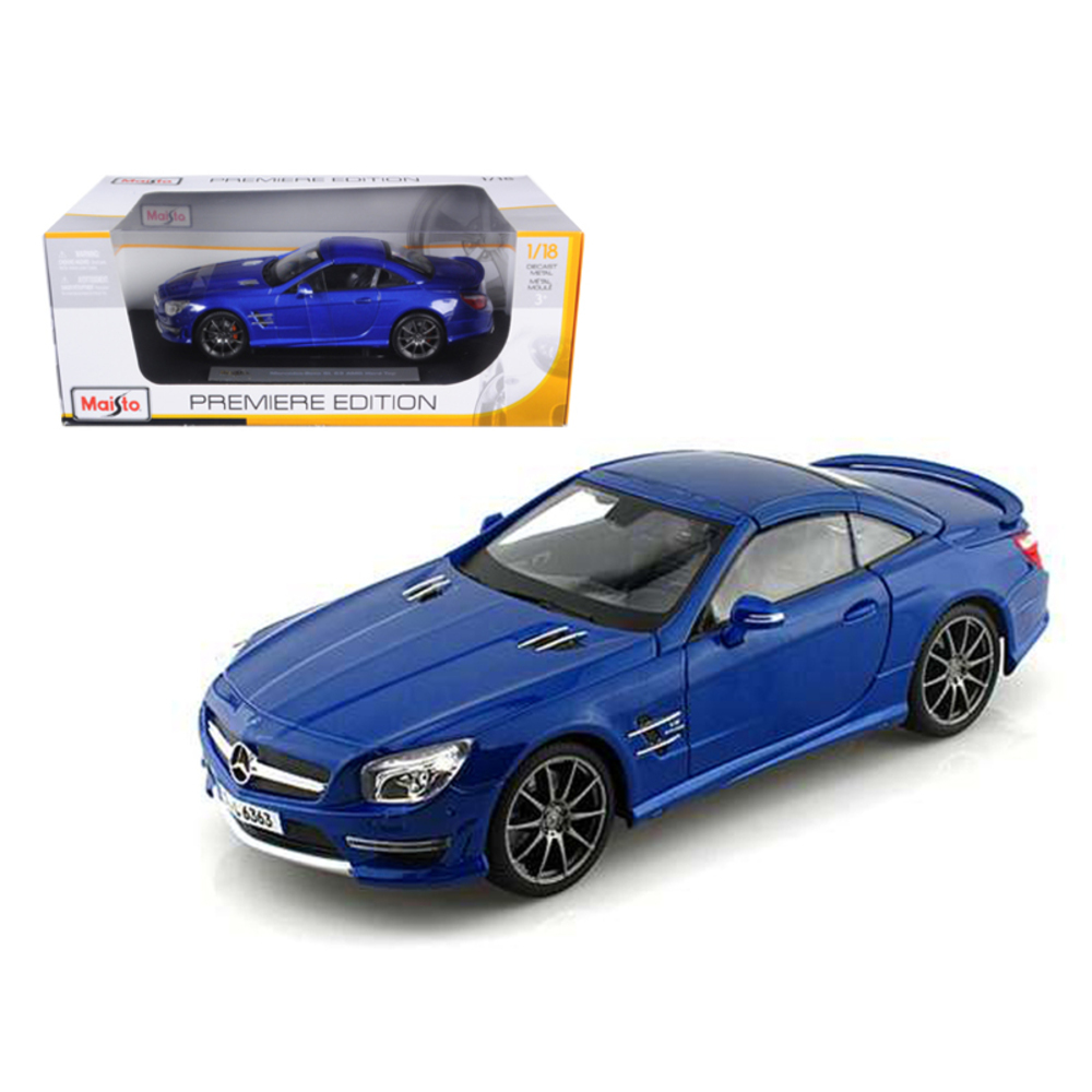 2012 Mercedes SL 63 AMG Blue 1/18 Diecast Car Model by Maisto 36199bl