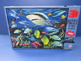 Milton Bradley Prime3D Super 3D Shark Waters puzzle 500 pieces - $14.80