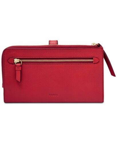 Fossil Women Fiona Leather Tab Wallet (Bright Red) image 4