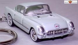 KEY CHAIN 53~1954~1962 GREEN CHEVY CORVAIR CHEVROLET CORVETTE C1 CUSTOM ... - $38.98