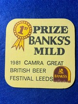 BEER MAT COASTER - TWO SIDED - BANKS MILD  1981 CAMRA   (FF256) - $5.49