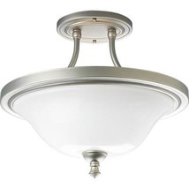 Victorian Pearl Nickel Semi Flushmount Ceiling Light Progress Lighting P... - ₹5,813.53 INR