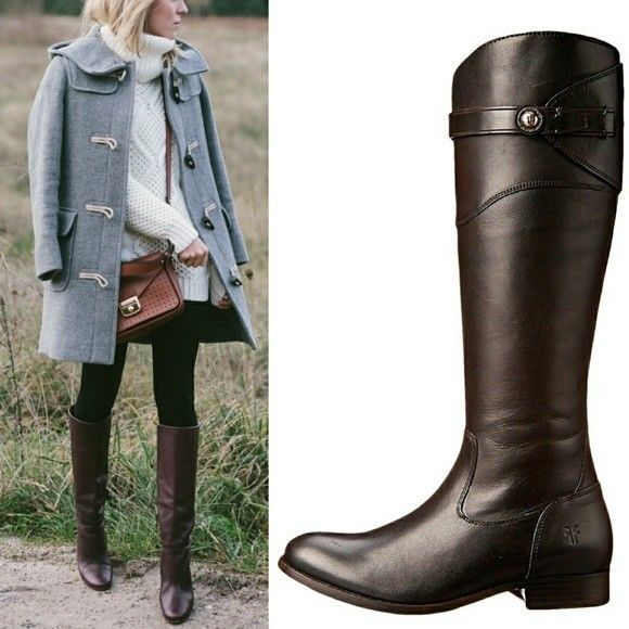 19e61b19f16c FRYE Riding Boots Molly Button Extended Calf and 50 similar items