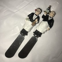 2 Cheese Spreaders Guy Buffet Charge of the Bottle Brigade Collection Wa... - $185,33 MXN