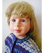"1999 My Twinn Doll 23"" Blonde Hair Blue Eyes 1997 Face Mold Dressed Pose... - $89.08"