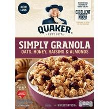 Quaker, Simply Granola, Honey, Raisins & Almonds, 28 oz Box - $9.00