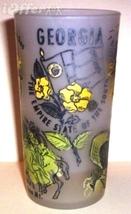 1960'S Retro Hazel ATLAS-- Frosted Souvenir Georgia Glass Tumbler - $17.45