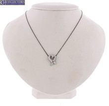 """Tiffany & Co Sterling Paloma Picasso Pink Sapphire Loving Heart 16.00"""" Necklace - $134.95"""