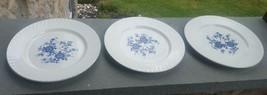 "3 Royal Blue Ironstone by  Wedgwood Dinner Plates 10"" ENGLAND - $19.99"