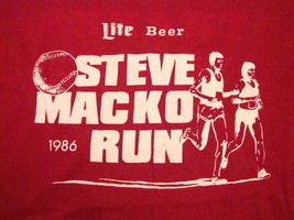 Vintage Steve Mack Run 1986 80's Miller Lite Beer Marathon Souvenir T Sh... - $20.54