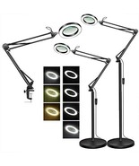 TOMSOO Magnifying Floor Lamp with Clamp, 3 Color Modes, 10 Levels Dimmab... - $73.99