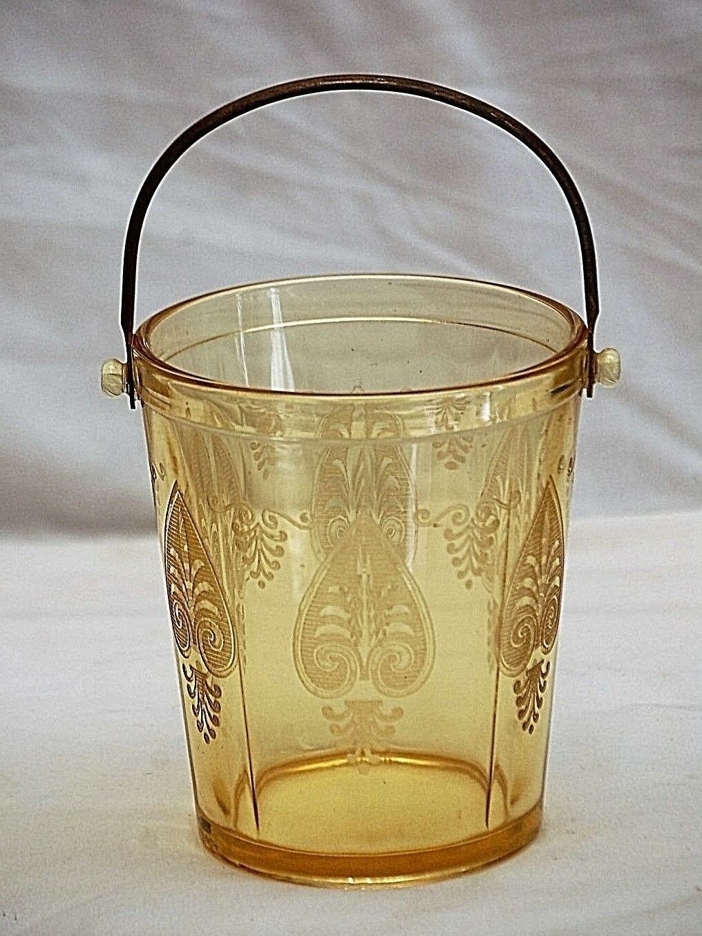 Primary image for Old Vintage Trojan Topaz Fostoria Ice Bucket Yellow Depression Glass 1929 ~ 1936